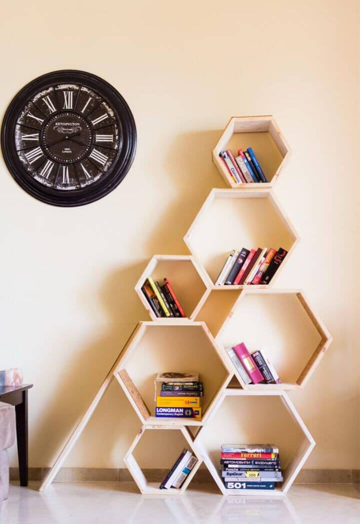 Make a Hexagon Bookshelf