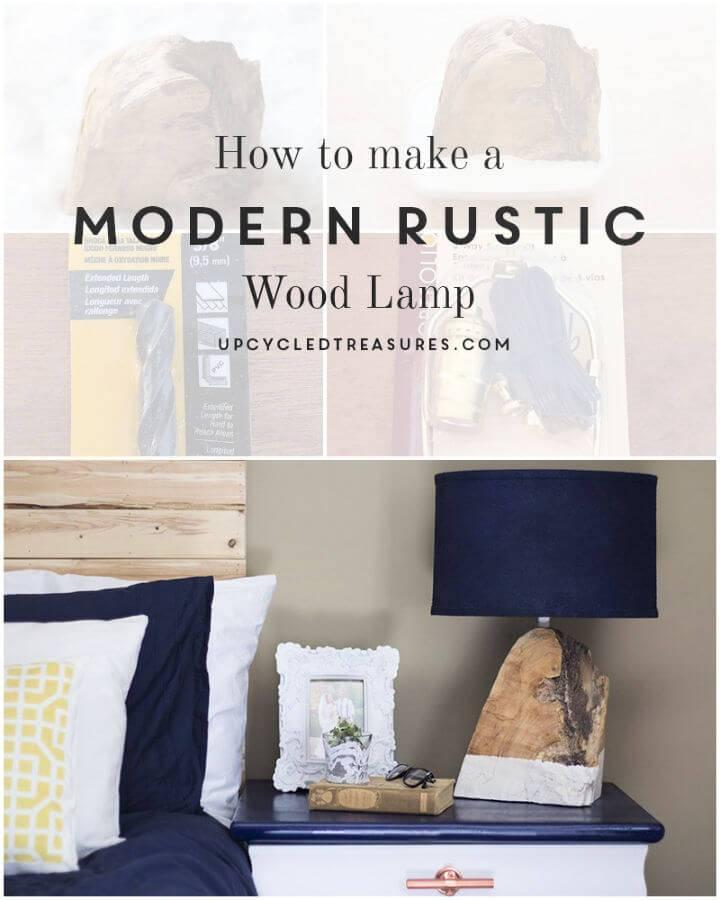 Make a Modern Rustic Wood Lamp