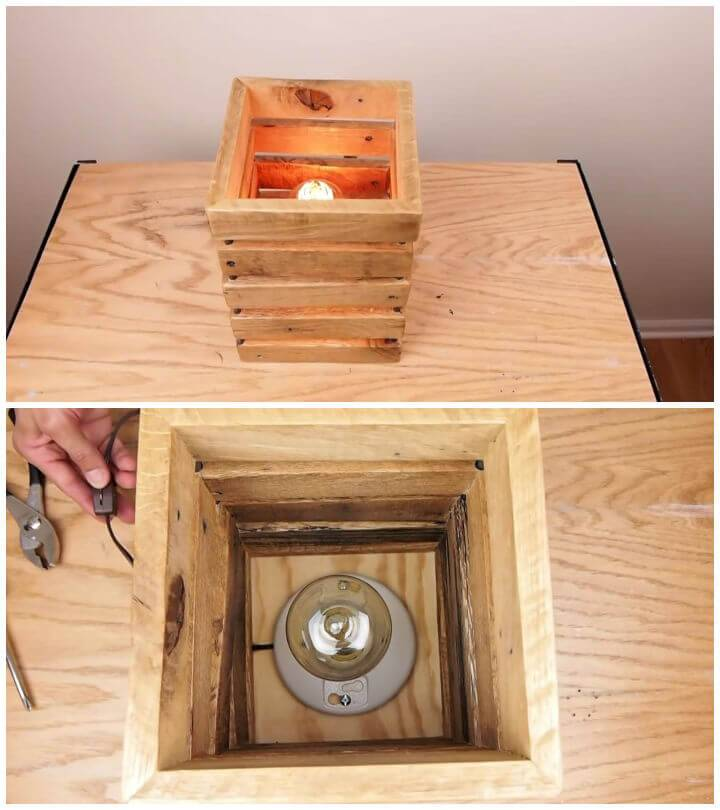 Make a Wood Lamp From Pallets