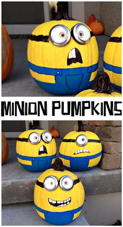 Minion Painted Pumpkins