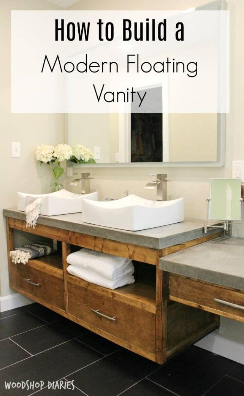 Modern DIY Floating Vanity