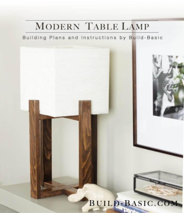 Modern DIY Wooden Table Lamp