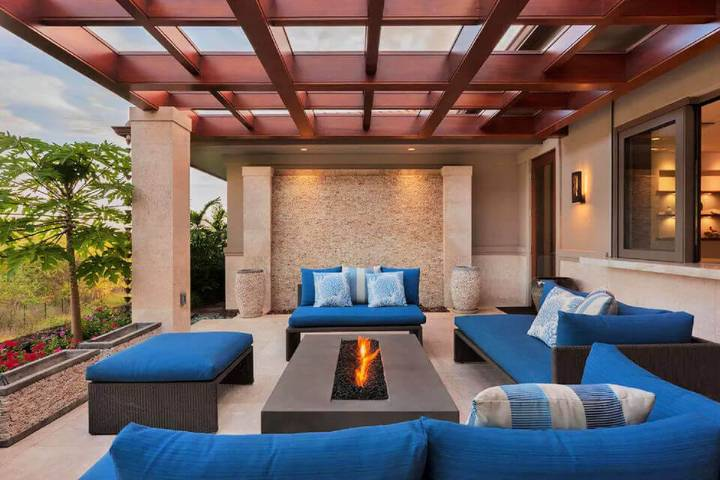 Modern Hardwood Flat roof