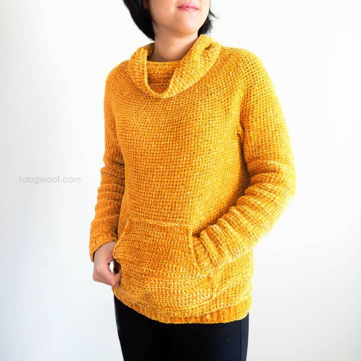 Mysa Velvet Sweatshirt Sweater Free Crochet Pattern