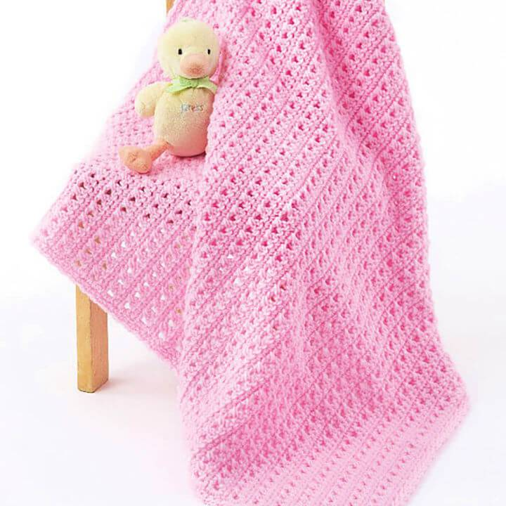 One Skein Caron Baby Blanket Free Pattern