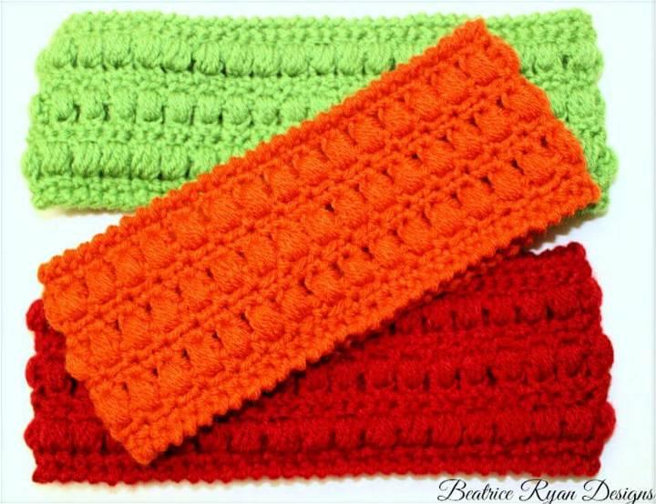 One Skein Whimsical Warmth Headband Free Crochet Pattern