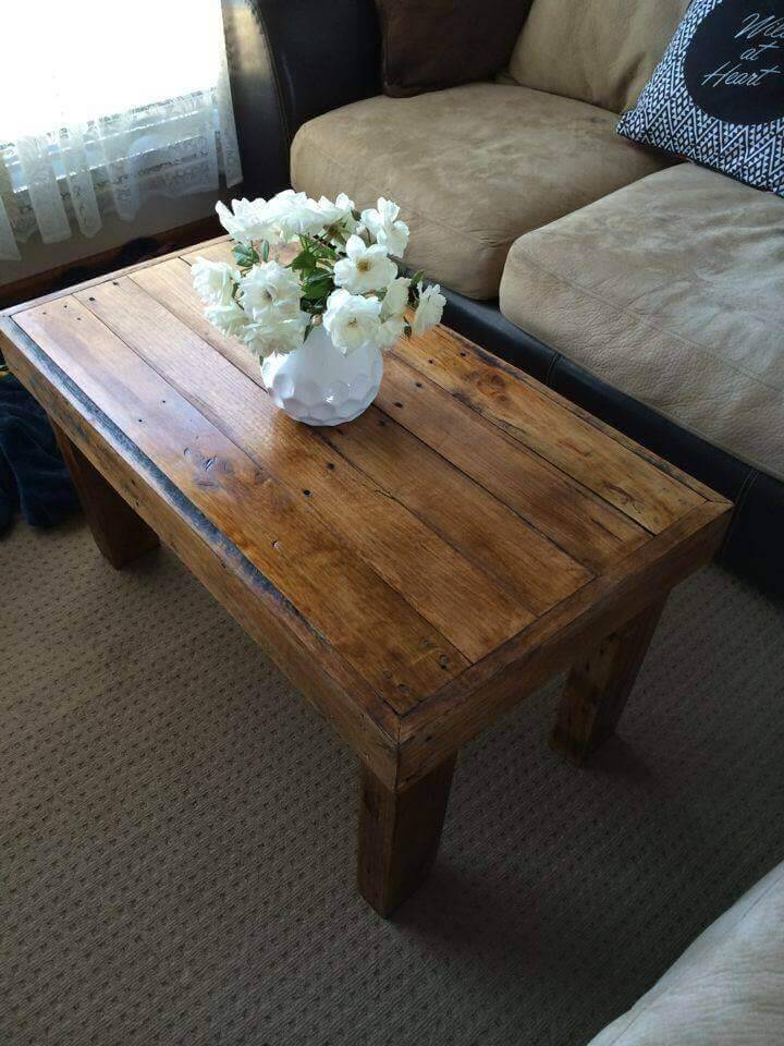 Pallet Coffee Table 100 Reclaimed Pallets