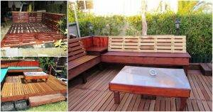Pallet Deck for Backyard Easy to Install