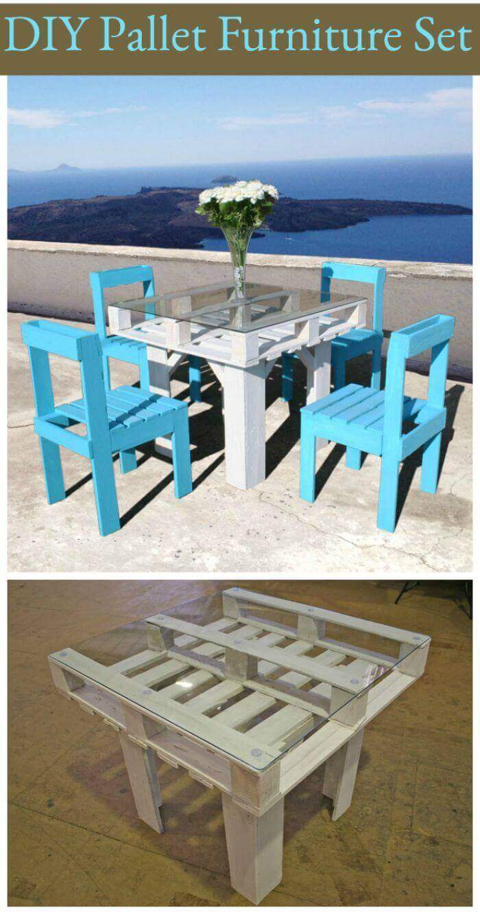 Pallet Furniture Set For The Entire Family