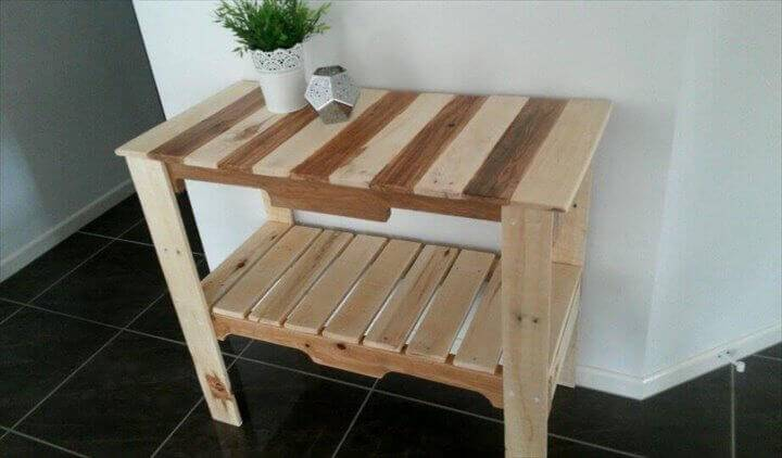 Pallet Hall Table or Entryway Console