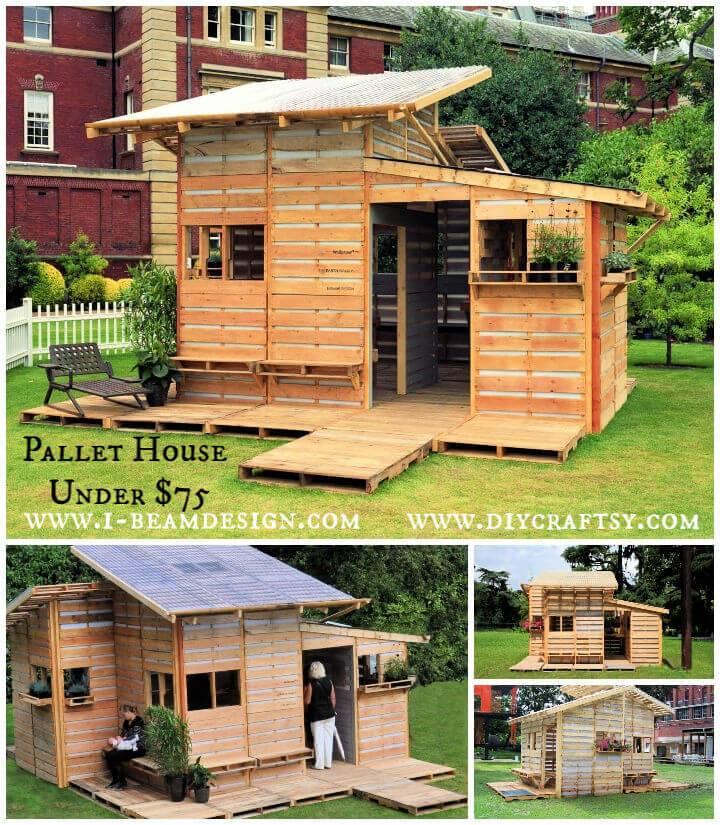 Pallet House Design under 75