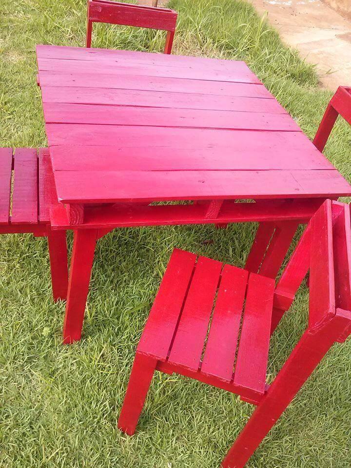 Pallet Patio Sitting Furniture Set