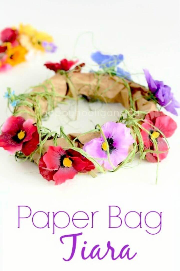 Paper Bag Tiara Craft for Camp