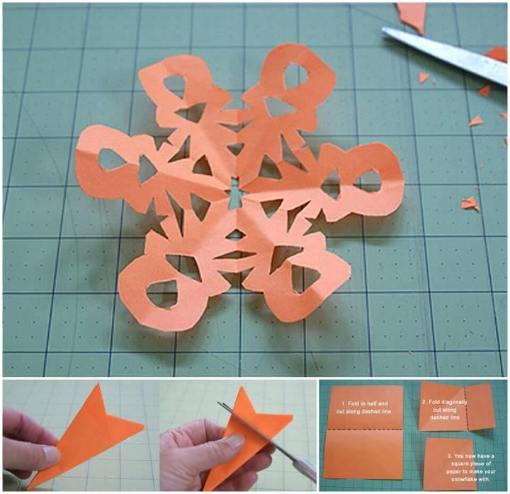 Quick DIY Paper Snowflakes