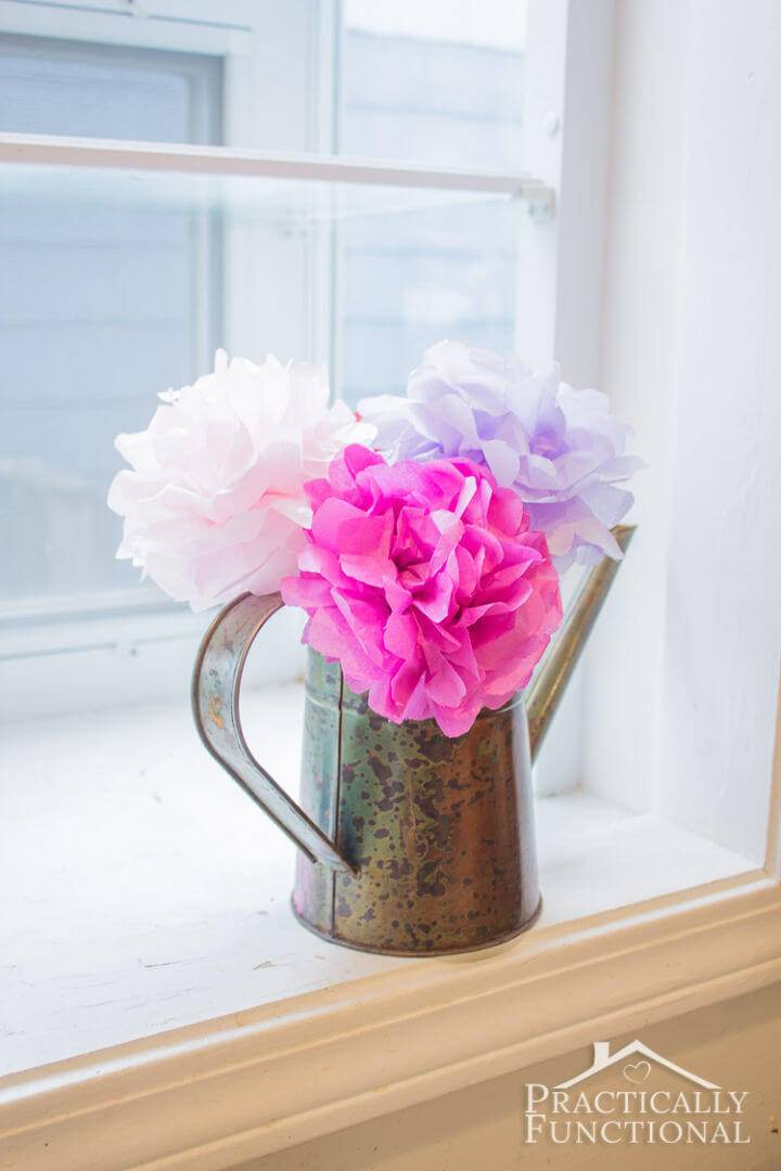 Quick and Easy DIY Tissue Paper Flower