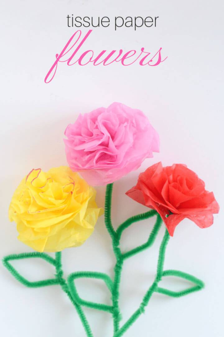 Quick to Make Tissue Paper Flowers