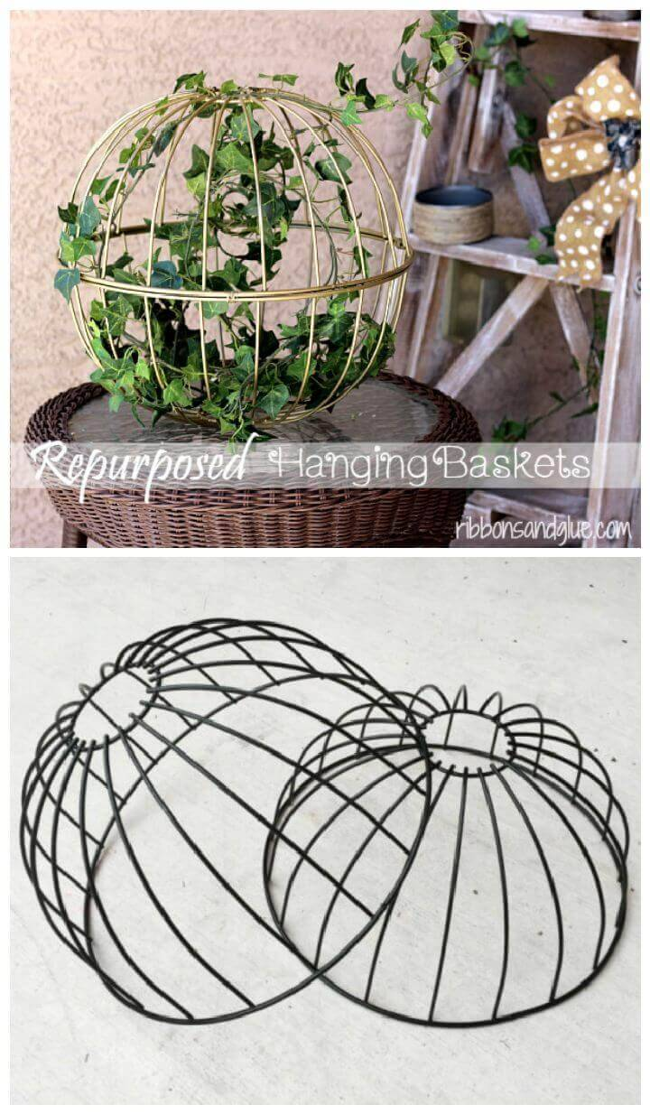 Repurposed Hanging Garden Baskets