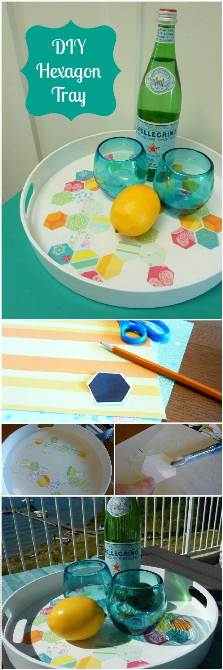 Simple DIY Hexagon Serving Tray