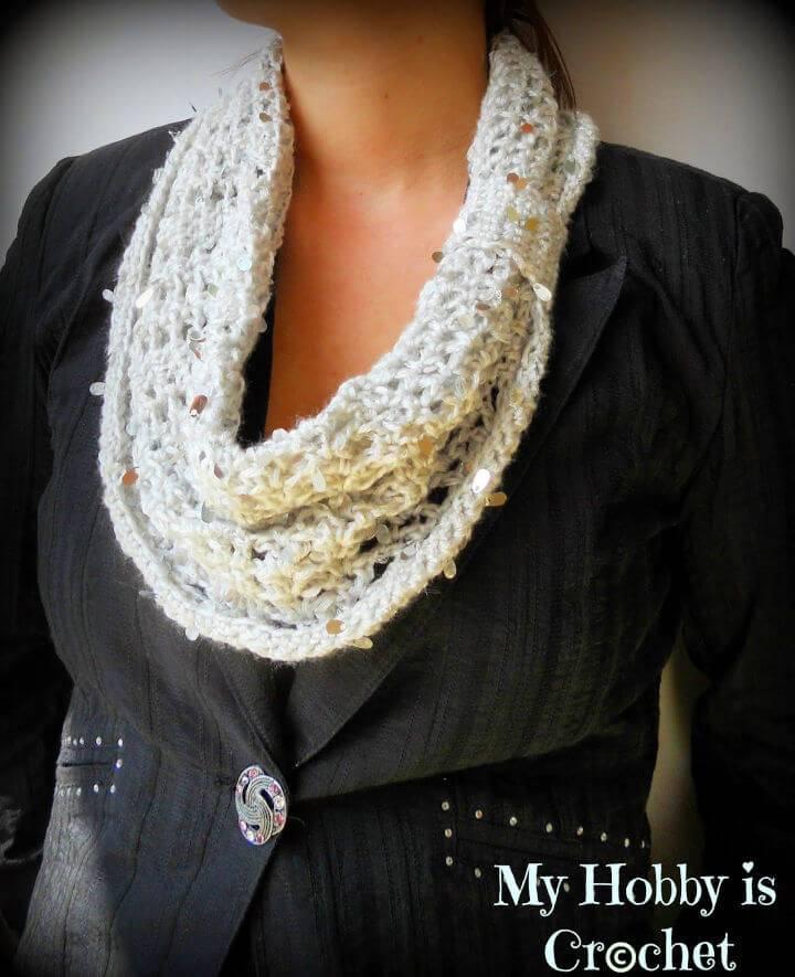 Simply Crochet Swanky Glam Cowl Free Pattern