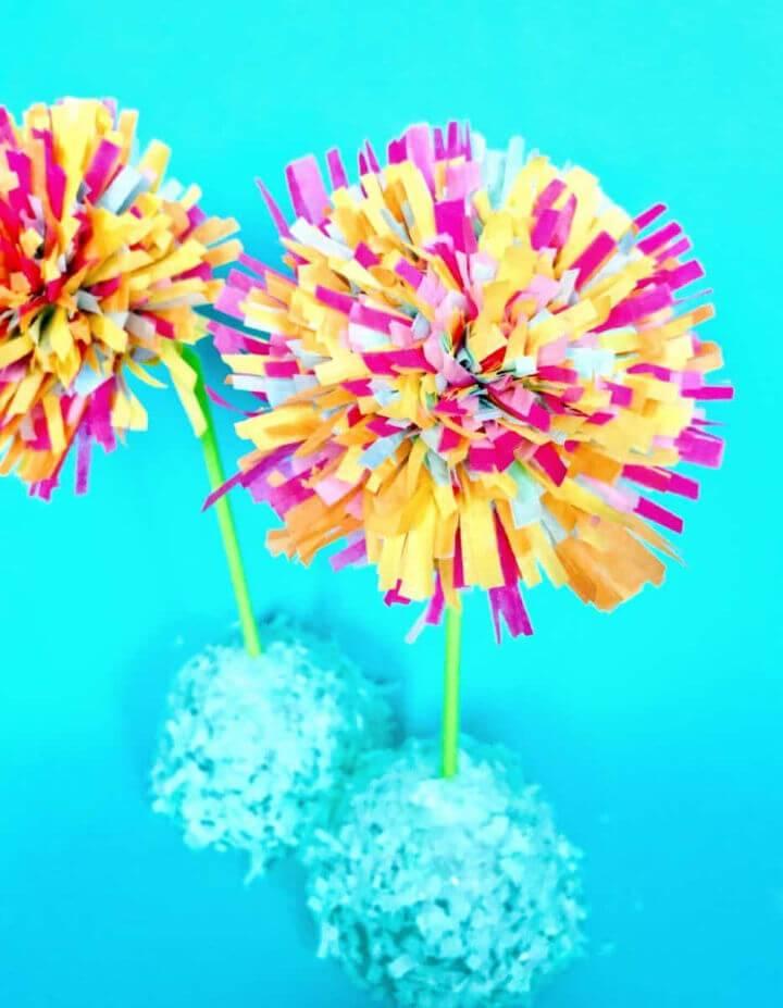 Spring Tissue Paper Fringe Flowers