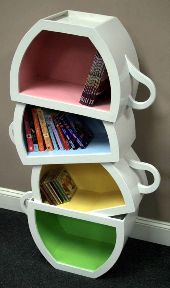 Teacups Bookshelf