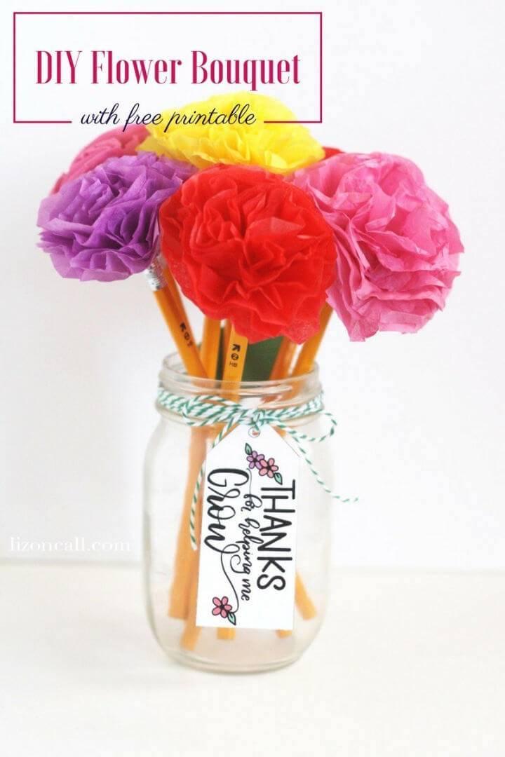 Tissue Paper Flower for Teacher Appreciation Gift