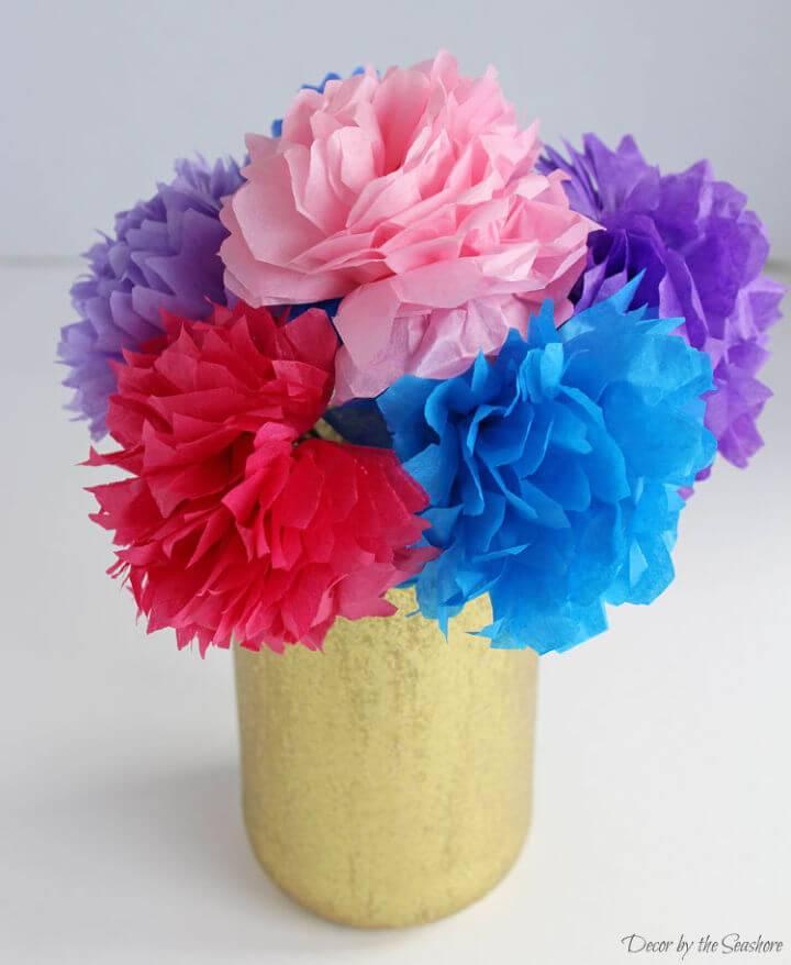 Tissue Paper Flowers Vase