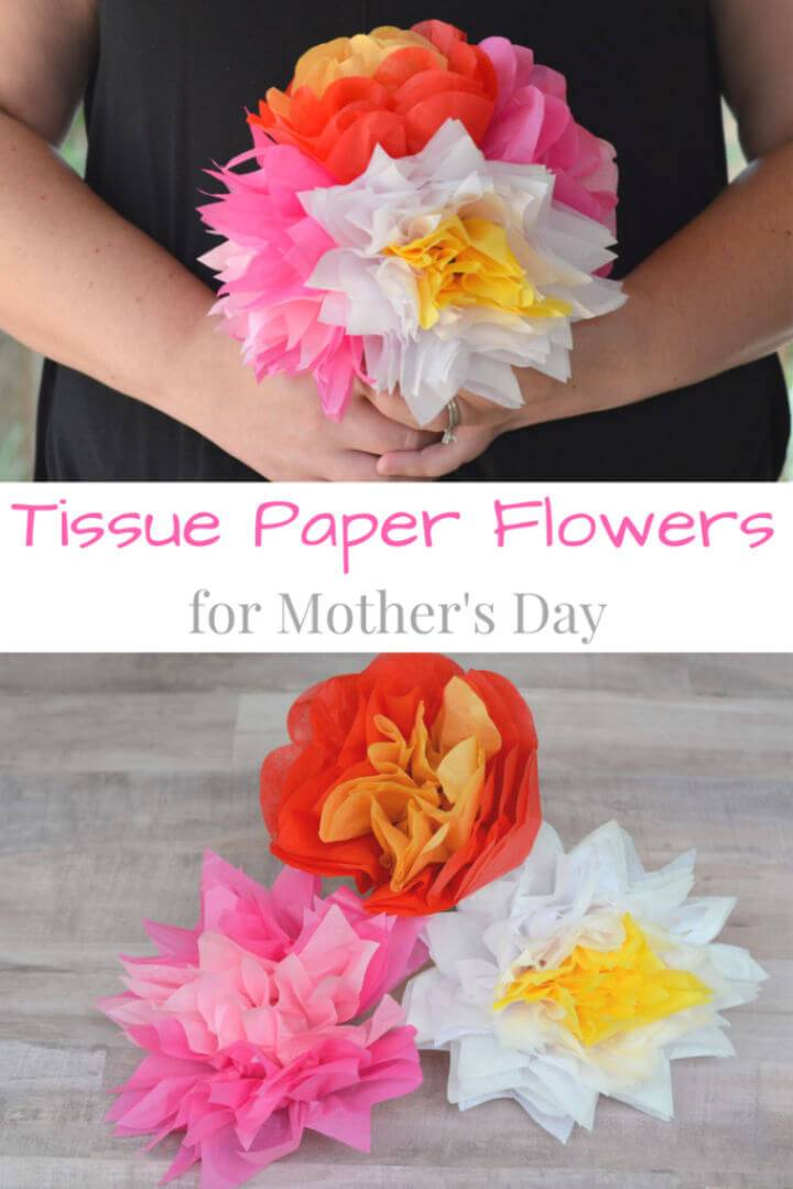 Tissue Paper Flowers for Mother's Day