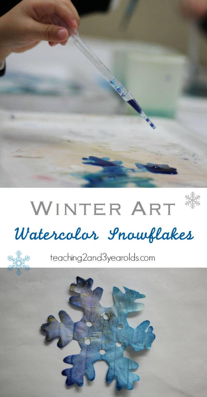 Tissue Paper Snowflakes with Preschoolers