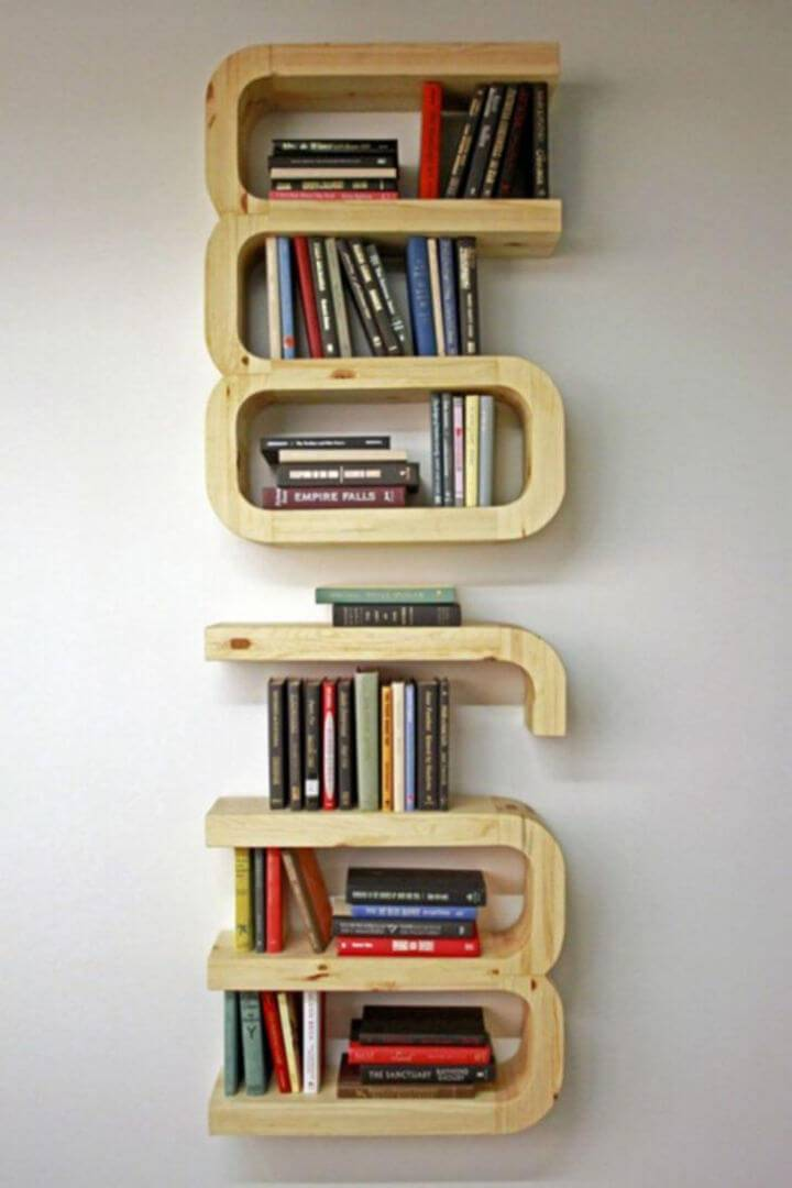 Unique Floating Bookshelf
