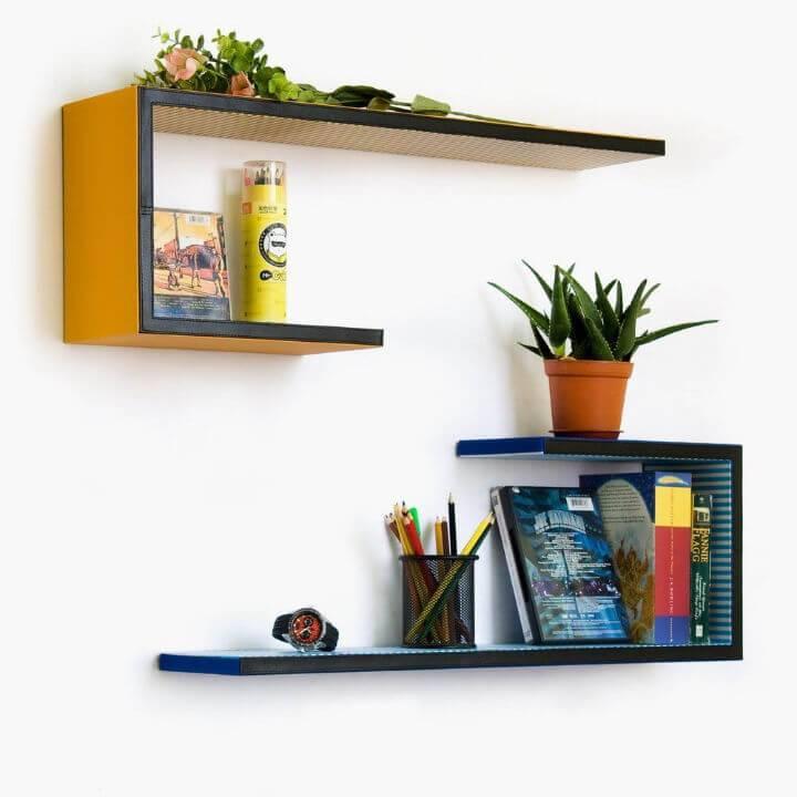 Unique Wall Mounted Bookshelves