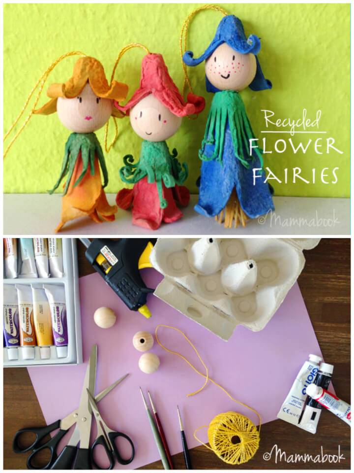 Upcycle Egg Cartons Into Flower Fairies