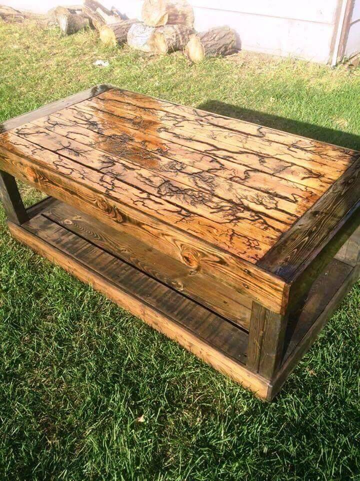 Upcycled Pallet Coffee Table for Outdoor