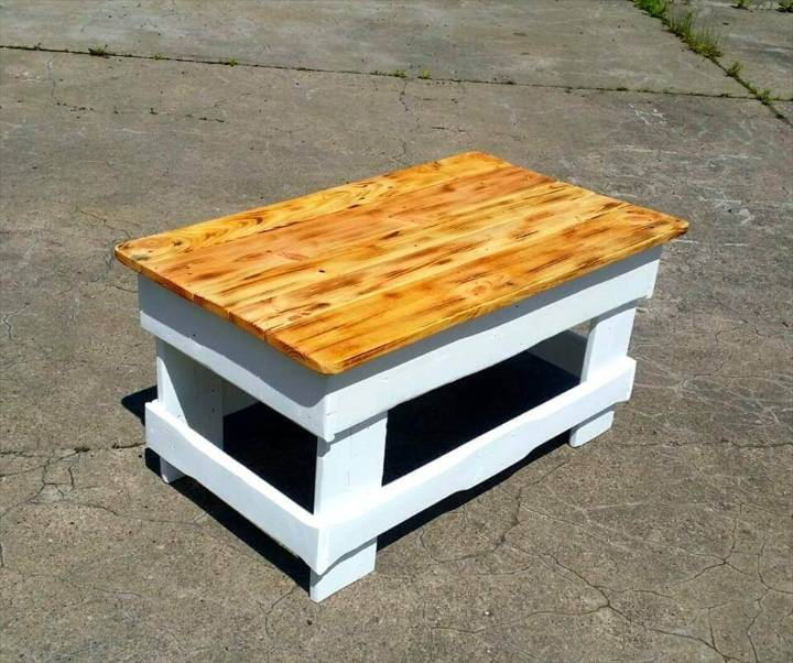 pallet coffee table with secret stash