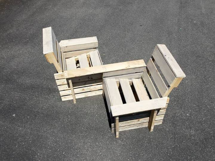 pallet double chair patio or garden bench