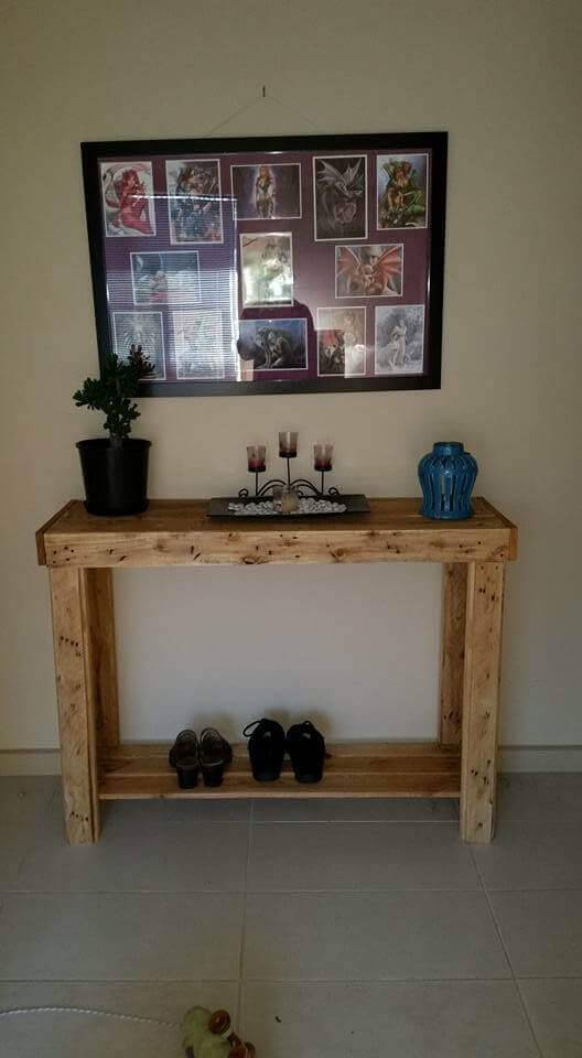 pallet hall or entryway table