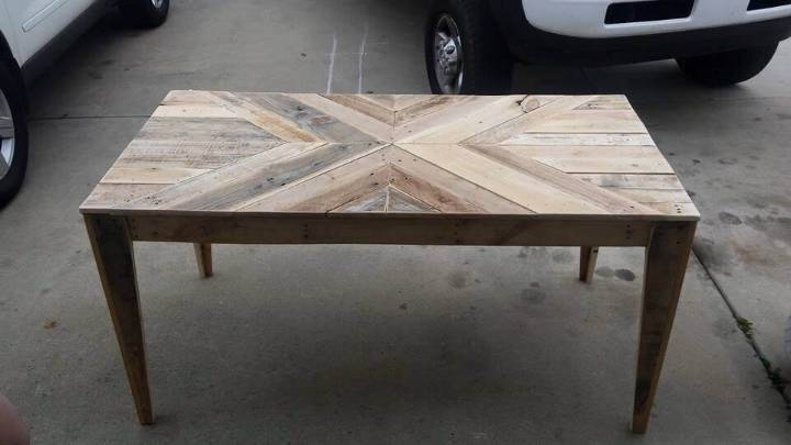pallet multi chevron coffee table