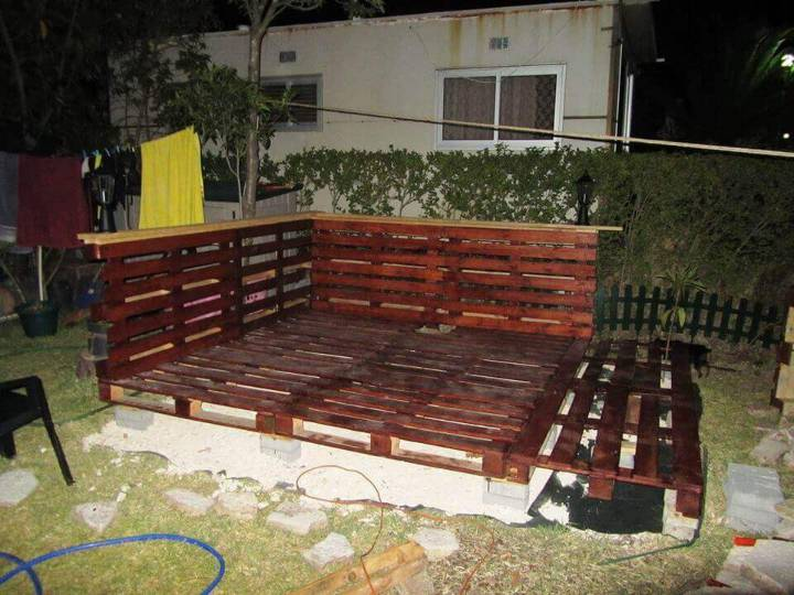 raising the pallet deck on concrete supports