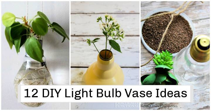12 DIY Light Bulb Vase Ideas