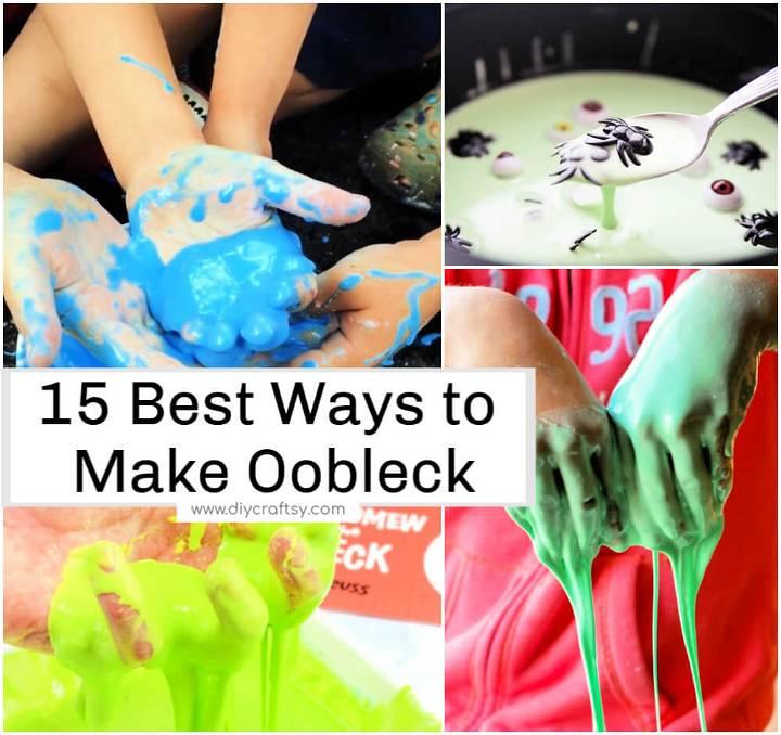 15 Best Ways to Make Oobleck