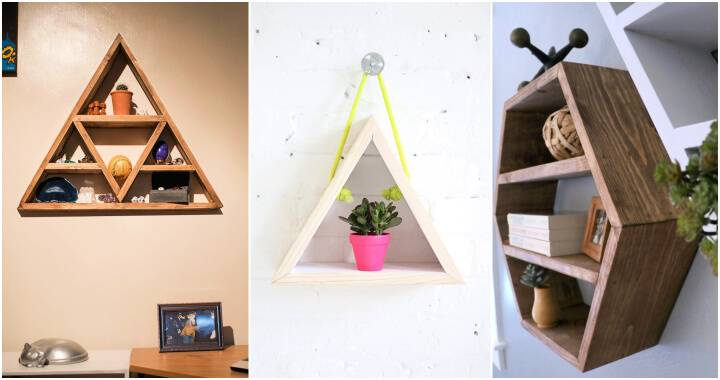 16 Elegant DIY Triangle Shelf Ideas