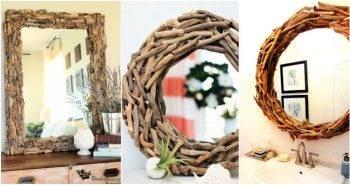 20 DIY Driftwood Mirror Ideas