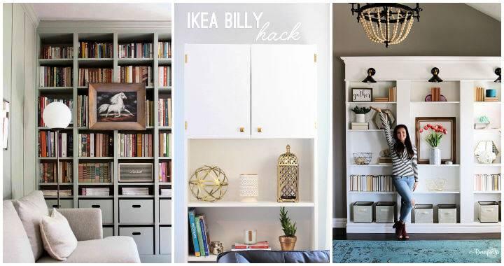 25 Best IKEA Billy Bookcase Hacks