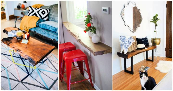 25 DIY Live Edge Wood Projects To Build At Home