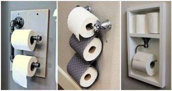 28 Unique DIY Toilet Paper Holder Ideas
