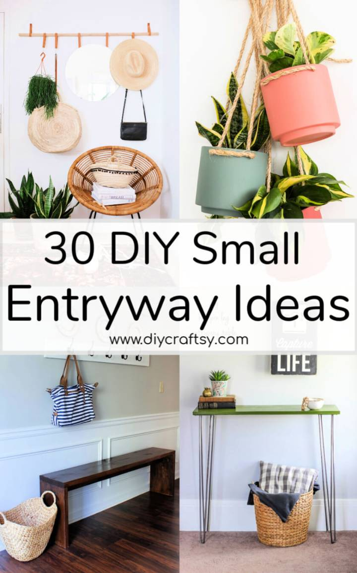 30 DIY Small Entryway Ideas