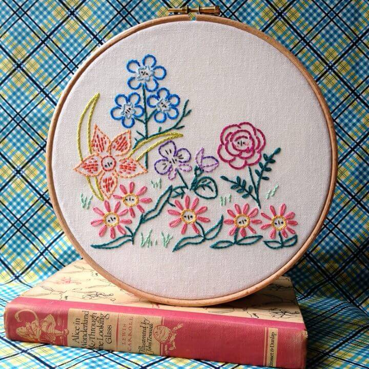 Alice's Garden Embroidery Pattern