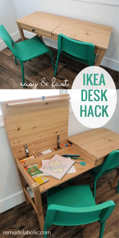 Art Desk with Storage