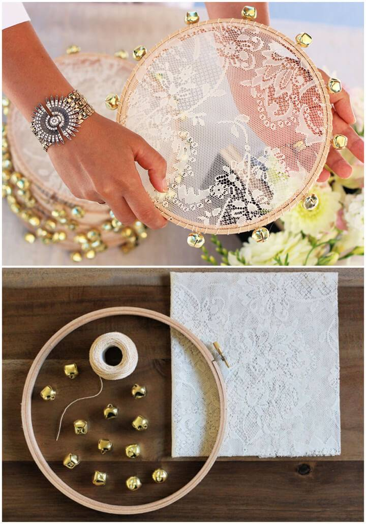 Awesome DIY Lace Tambourine
