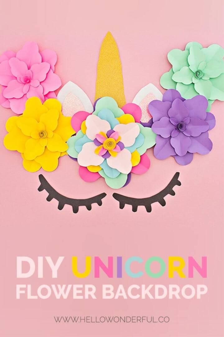 Beautiful DIY Unicorn Flower Backdrop